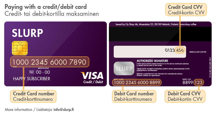 SLURP Payment Card Help