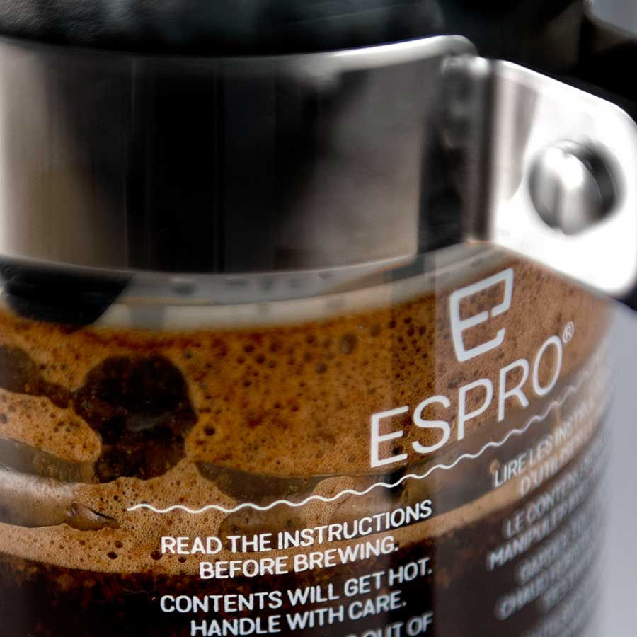 Espro P5 with coffee