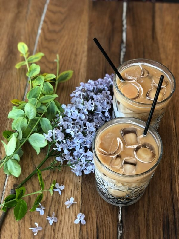 cold brew coffee with milk