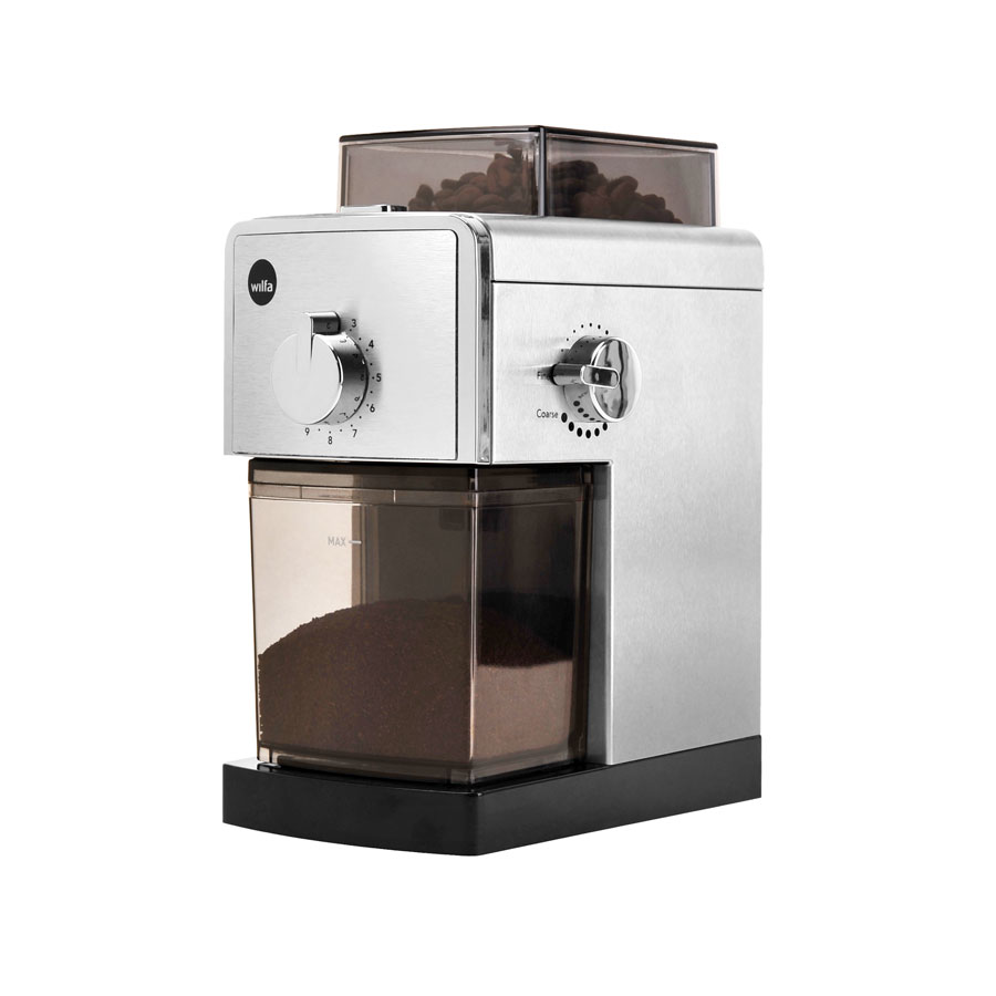 Wilfa-Il-Solito-grinder-CG-110S-with-coffee
