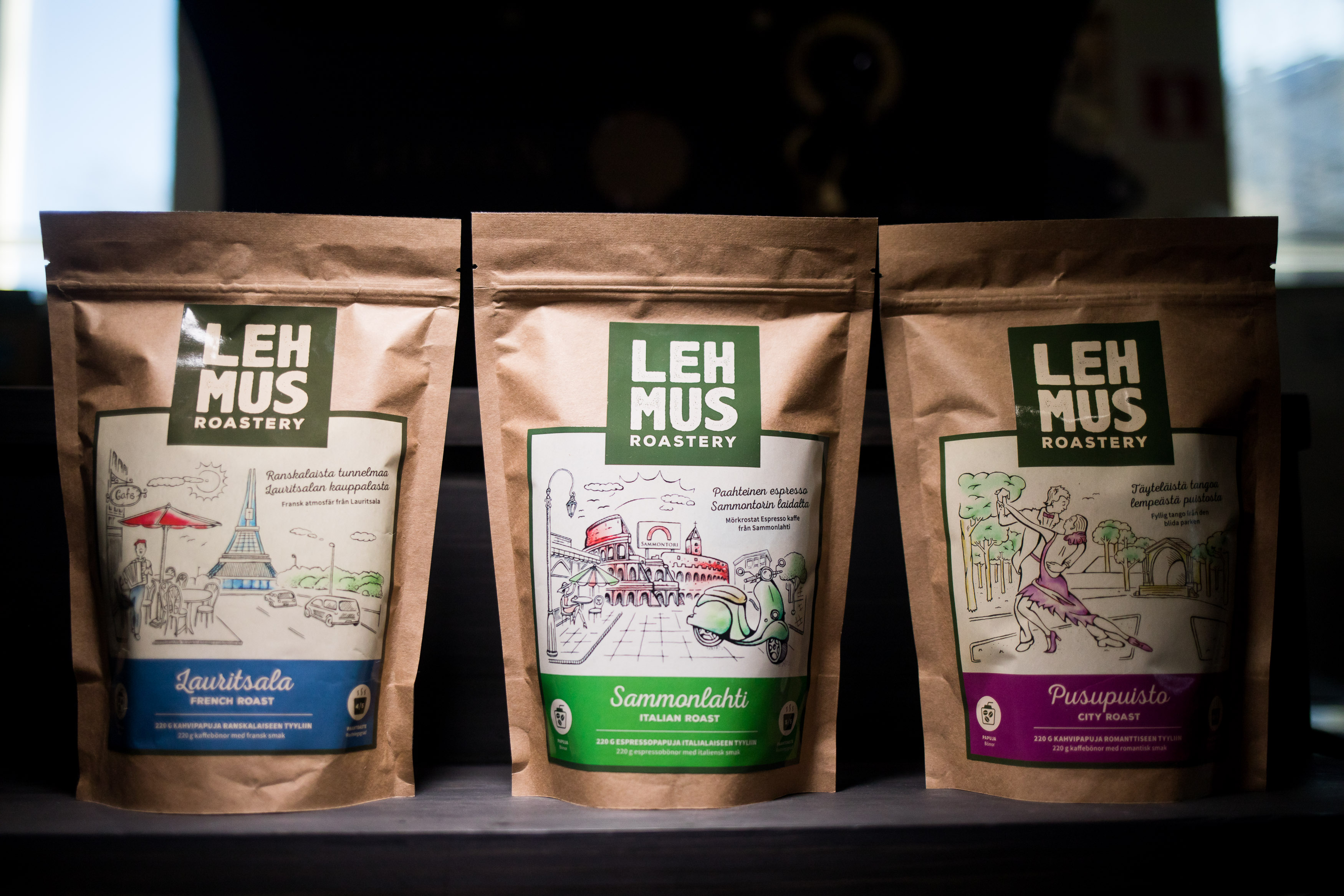 Lehmus Roastery – 3 coffees
