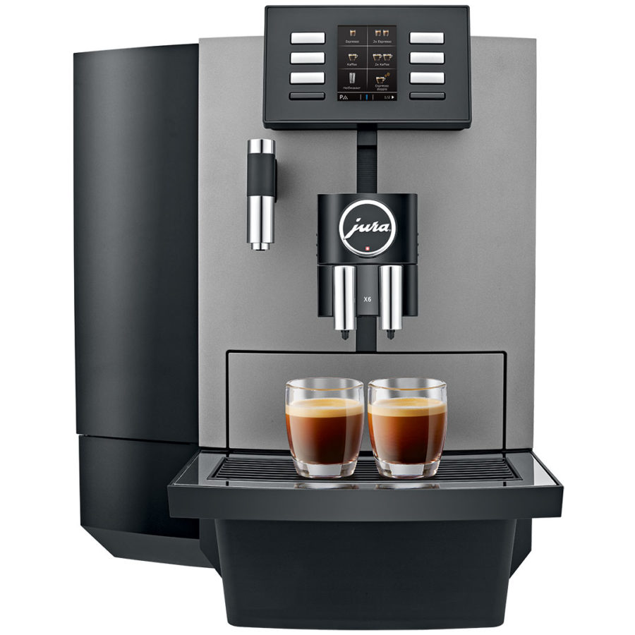 Jura X6 Dark Inox automatic coffee machine 1