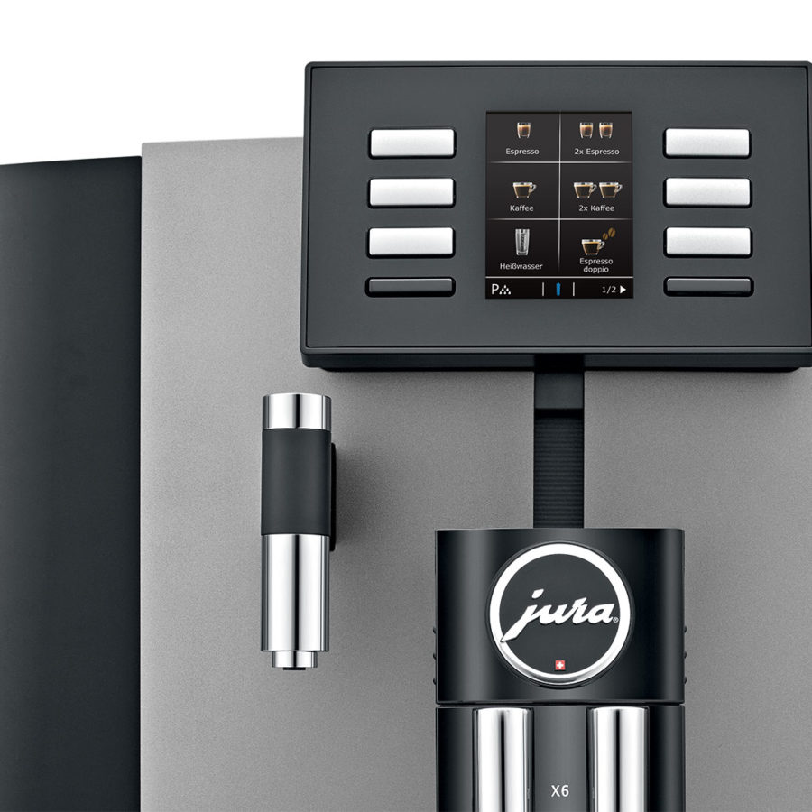 Jura X6 Dark Inox automatic coffee machine 3
