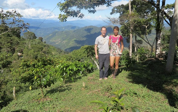 Couple on a mountainside